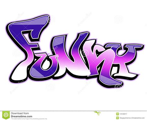 funky designs graffiti art design funky stock vector image 14133317