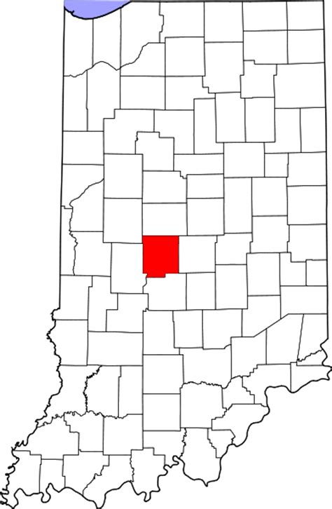 Hendricks County Search File Map Of Indiana Highlighting Hendricks County Svg