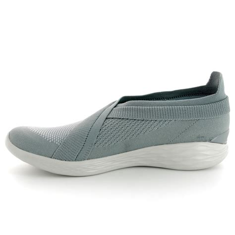 Skechers You by Skechers You Luxe 14955 Gry Grey Trainers