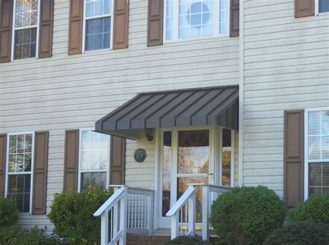 residential metal awnings residential metal awnings regarding front door prepare 4