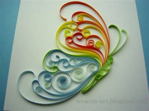 quilling craft tutorial quilling butterfly 2 wesens art blogspot com quilling