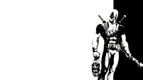 black and white comic wallpaper black and white deadpool jpg