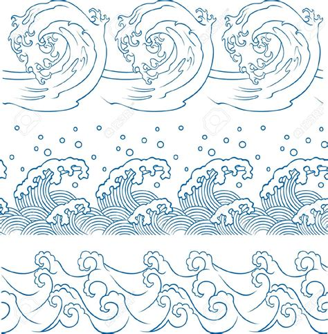 japanese pattern wind japanese waves outline www imgkid com the image kid