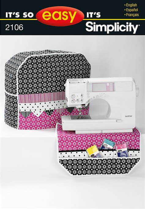 pattern for sewing machine cover simplicity 2106 sewing machine cover and organizer