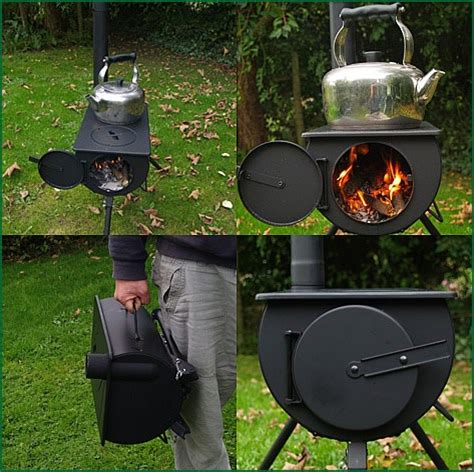 backyard wood stove frontier portable wood burning stove with water heater