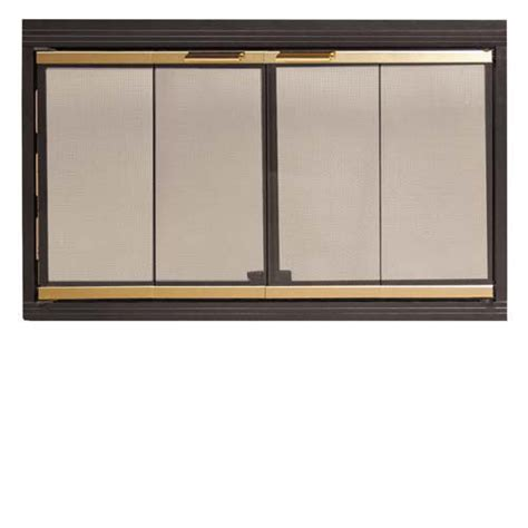 z fyre flex black glass fireplace door assembly with satin