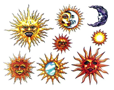 colorful sun tattoo designs sun and moon design img18 171 sun moon 171 flash tatto