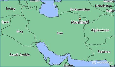 mashhad map where is mashhad iran mashhad razavi khorasan map