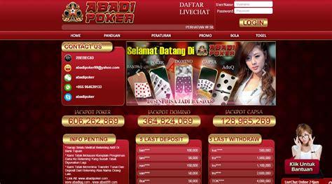 abadipoker daftar situs abadi poker dewapoker
