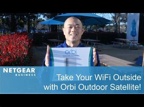 orbi outdoor satellite not syncing take your wifi outside with the orbi outdoor satellite