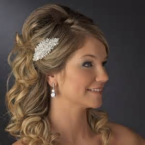 pictures of comb hairstyle elegant long bridal hairstyles with hair comb