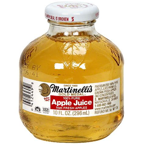 Supplier Gloria By Aple martinelli s gold medal 100 apple juice 10 oz pack of 24 beverages walmart