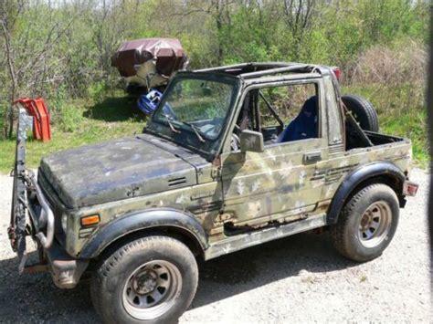 Suzuki Wrecker Sell Used 1987 Suzuki Samurai W Trailer Cer Tow Bar