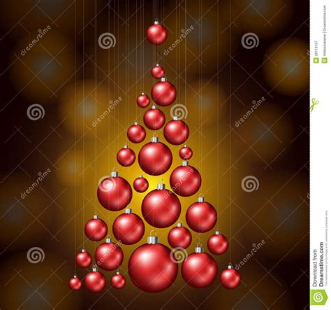 christmas tree made from red balls royalty free stock
