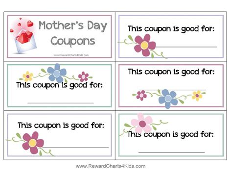 s day coupon template free coupon book for customize print at home
