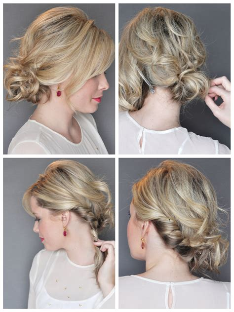 how to do a messy updo with medium legnh thin hair key looks for the party season m2hair s blog