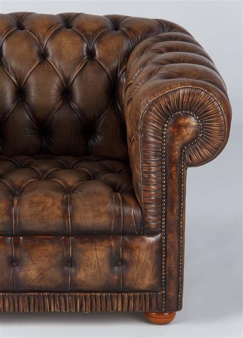 Brown Leather Chesterfield Armchair by Vintage Chesterfield Armchair In Brown Leather 1960s For Sale At 1stdibs
