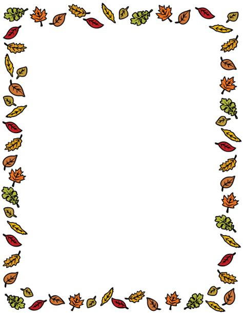 bordes para publisher autumn fall border oto 241 o hojas bordes de p 225 gina