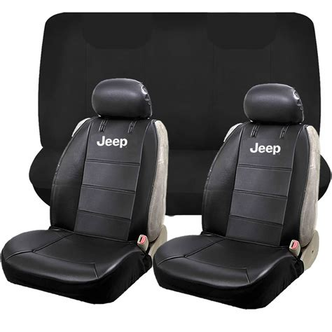 leather bench seat cover jeep mopar elite classic sideless synthetic leather seat