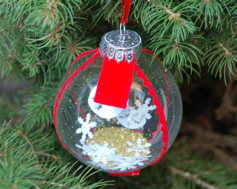 snow globe christmas ornament hgtv