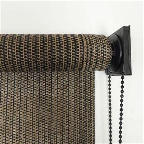 radiance espresso stripe montecito fabric exterior roller