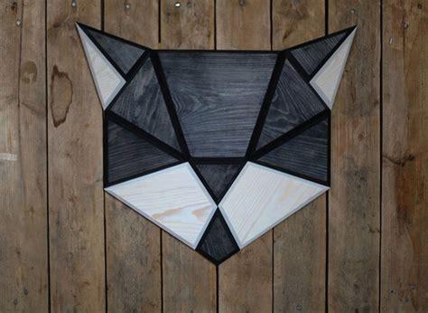 membuat hiasan dinding kayu cara desain hiasan dinding hewan berbentuk geometris