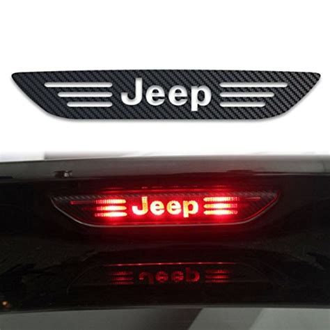 jeep stickers jeep sticker tail light brake l decal carbon fiber