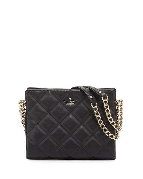 Kate Spade Black Quilted Purse by Kate Spade Emerson Place Quilted Leather Handbag In Black