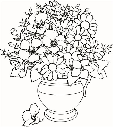 flower coloring colouring pages detailed flower colouring pages