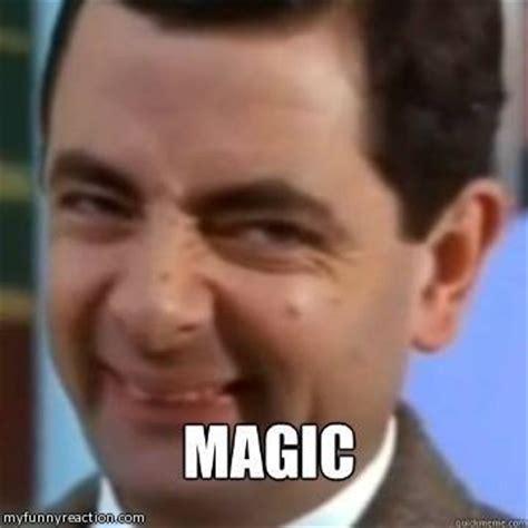 Meme Bean - mr bean magic fb comment image