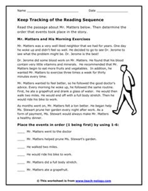 Chronological Order Worksheets 4th Grade by Cameron The Relay Machine Understanding Story Sequence