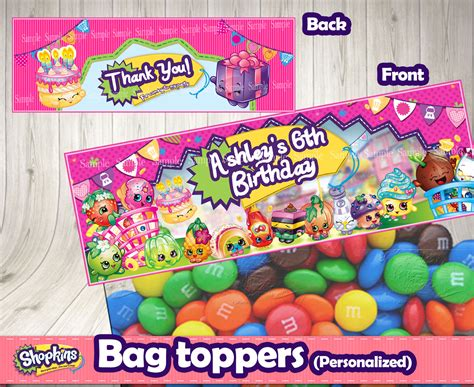 printable party bag toppers shopkins bag toppers personalized decorationsleon