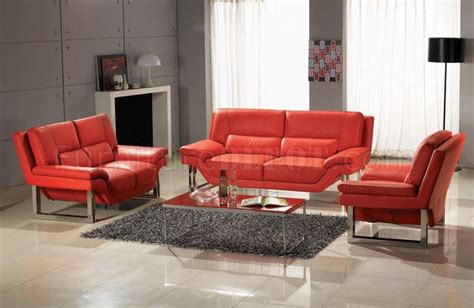 red leather living room set full top grain leather 3 piece modern living room set new