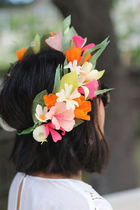 diy flower crown diy paper flower crown