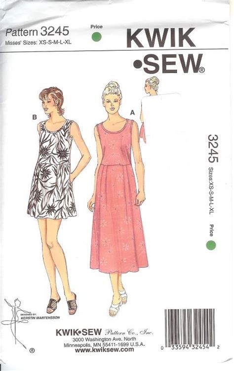 dress pattern kwik sew kwik sew sewing pattern misses dress outfits size xs s m