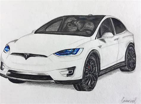 Tesla Model X Sketches by Portfolio Drawing Tesla Model X Emanuel Schweizer