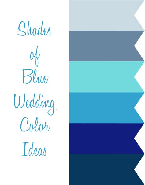 shades of blue color 6 shades of blue wedding color ideas and wedding