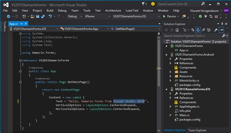 xamarin forms tutorial visual studio vincenth on net 187 why and how to get started with visual