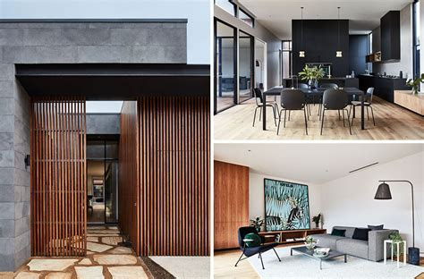 home design companies australia this modern australian house wraps around a courtyard for
