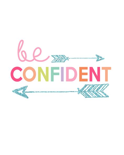 Be Confident be confident printable prints series day 2 the