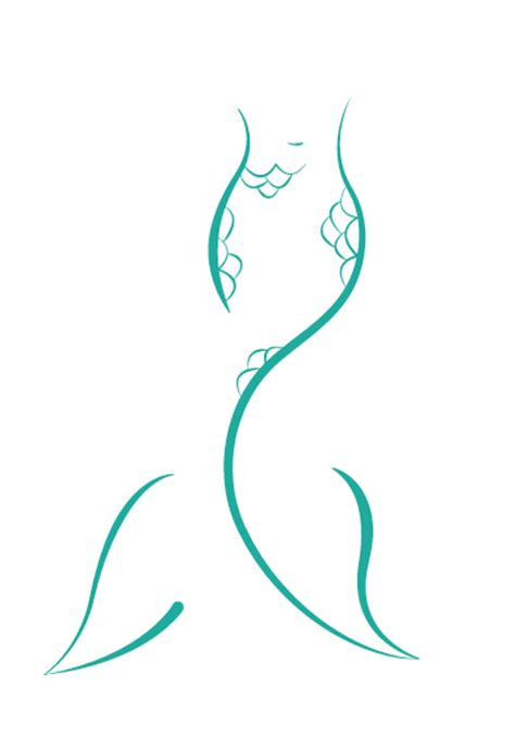 mermaid tail logo on behance mermaid logo pinterest