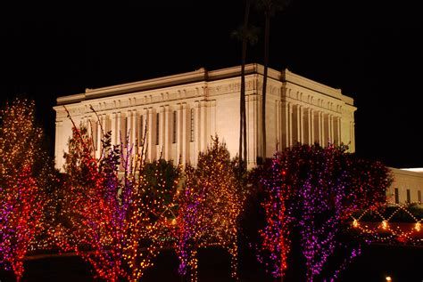 mesa arizona temple during christmas