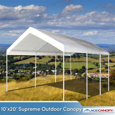 Outdoor Canopy 10 X20 Supreme Outdoor Canopy W Valance Top Sale