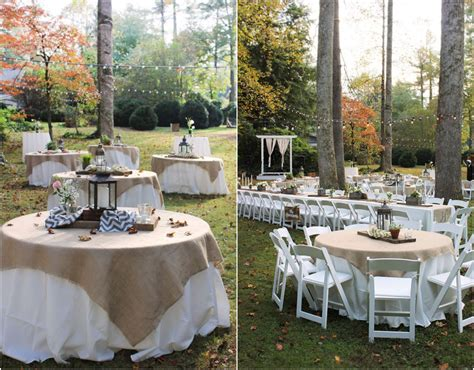 backyard reception ideas backyard rustic wedding reception idea via