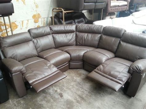 argos leather sofa argos paulo brown real leather recliner corner sofa