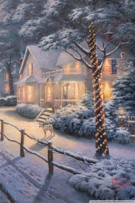 hometown christmas memories  thomas kinkade ultra hd