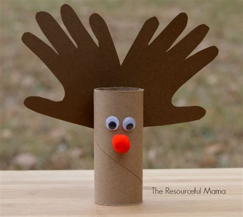 reindeer paper craft toilet paper roll reindeer kid craft the resourceful