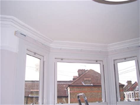 corded bay window curtain track changing curtains highgate north london n6 5bb poles and