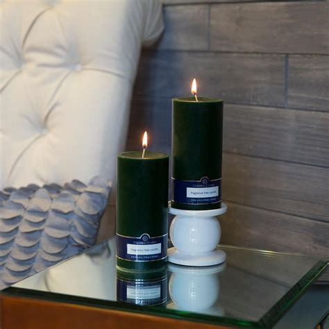 best unscented candles colonial candle evergreen 3 in x 6 in unscented pillar