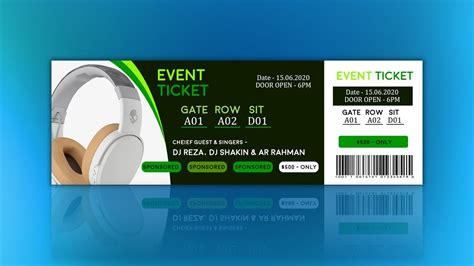 design event tickets photoshop how to create event ticket design tutorial in photoshop
